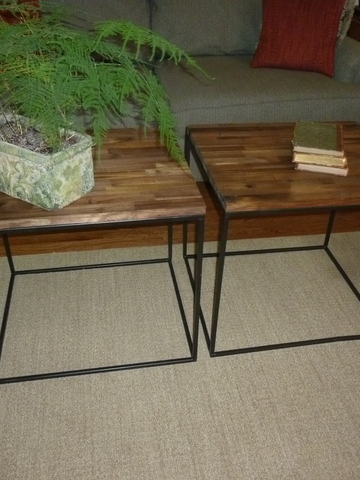 Coffee table cubes 21.5hx24x21