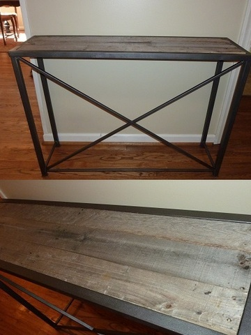 12x41.5x30h reclaimed wood and steel console   web