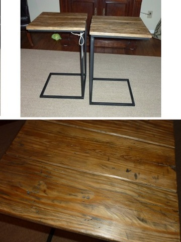 Versatile side table 16.5x16x27h distressed   web