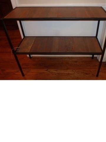 Steel.reclaimwood table 13.5x40.5x33h bronze   web